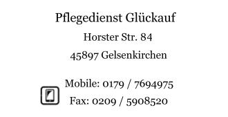 Pflegedienst Glückauf Gelsenkirchen - Adresse